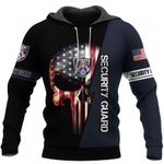 Security Guard Skull US Unisex Size Hoodie