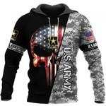 US Army Skull US Unisex Size Hoodie