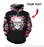 Personalized Floral Mexican Skulls Unisex Hoodie