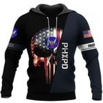 Phoenix PD Skull Law Enforcement US Unisex Size Hoodie