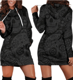 Dark Sugar Skull Women's Hoodie Dress
