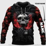 Red Head Skull Screaming Personalized Unisex Hoodie