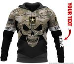 Army Multicam Combat Flag New US Armed Force Skull Personalized Hoodie US Unisex Size