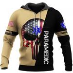 EMT Paramedic Skull US Unisex Size Hoodie