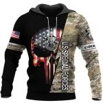 US Special Forces Skull US Unisex Size Hoodie