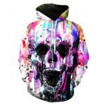 3D Skull Hoodie V4