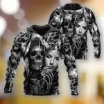 3D Skull Hoodie V25