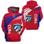 3D Hoodie, Zip hoodie, Sherpa hoodie - Cuba - X1