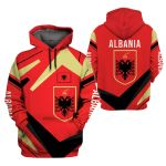 3D Hoodie, Zip hoodie, Sherpa hoodie - Albania - Y1