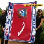 3D All-over Printed Fleece Blanket 'Cuba' Odesea-X1