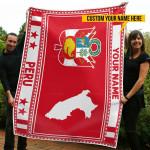 3D All-over Printed Fleece Blanket 'Peru' Odesea-X1