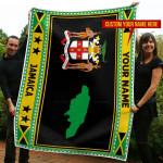 3D All-over Printed Fleece Blanket 'Jamaica' Odesea-X1