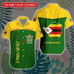 3D All-over Printed Hawaii Shirt & Short 'Zimbabwe' Geral-X1