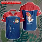 3D All-over Printed Hawaii Shirt & Short 'Serbia' Geral-X1