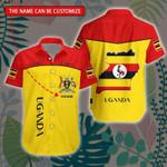 3D All-over Printed Hawaii Shirt & Short 'Uganda' Geral-X1