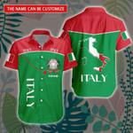 3D All-over Printed Hawaii Shirt & Short 'Italy' Geral-X1
