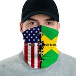 3D Neck Gaiter Men & Women 'Jamaica By Blood, American By Birth' Nuzoria-X1