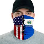3D Neck Gaiter Men & Women 'El Salvador By Blood, American By Birth' Nuzoria-X1