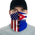 3D Neck Gaiter Men & Women 'Cuba By Blood, American By Birth' Nuzoria-X1
