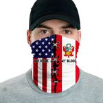 3D Neck Gaiter Men & Women 'Peru By Blood, American By Birth' Nuzoria-X1