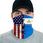 3D Neck Gaiter Men & Women 'Nicaragua By Blood, American By Birth' Nuzoria-X1