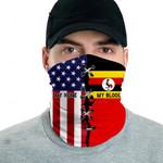 3D Neck Gaiter Men & Women 'Uganda By Blood, American By Birth' Nuzoria-X1