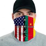 3D Neck Gaiter Men & Women 'Cameroon By Blood, American By Birth' Nuzoria-X1