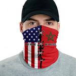 3D Neck Gaiter Men & Women 'Morocco By Blood, American By Birth' Nuzoria-X1
