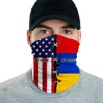 3D Neck Gaiter Men & Women 'Armenia By Blood, American By Birth' Nuzoria-X1