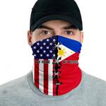 3D Neck Gaiter Men & Women 'Philippines By Blood, American By Birth' Nuzoria-X1
