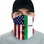 3D Neck Gaiter Men & Women 'Italy By Blood, American By Birth' Nuzoria-X1