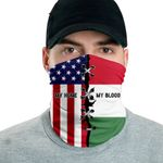3D Neck Gaiter Men & Women 'Hungary By Blood, American By Birth' Nuzoria-X1