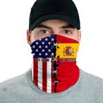 3D Neck Gaiter Men & Women 'Spain By Blood, American By Birth' Nuzoria-X1
