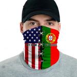 3D Neck Gaiter Men & Women 'Bulgaria By Blood, American By Birth' Nuzoria-X1
