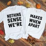 Nothing Make Sense White Shirts