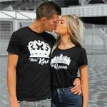 His Queen & Her King Black Shirts