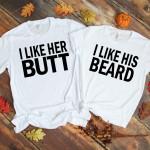 Beard & Butt White Shirts
