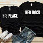 Her Rock & His Peace Shirts
