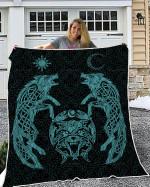 Wolfs Vikings 3D Quilt Ver Blue light color - New Design