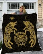 Wolfs Vikings 3D Quilt Ver Yellow light color - New Design