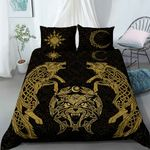 Wolf Vikings bedding set Ver yellow light color - Limited edition