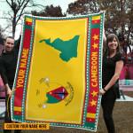 3D All-over Printed Fleece Blanket 'Cameroon' Odesea-X1