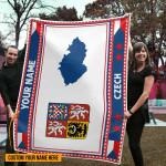 3D All-over Printed Fleece Blanket 'Czech' Odesea-X1