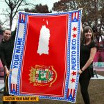 3D All-over Printed Fleece Blanket 'Puerto Rico' Odesea-X1