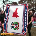3D All-over Printed Fleece Blanket 'Dominican Republic' Odesea-X1