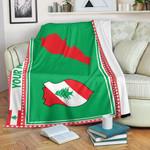 3D All-over Printed Fleece Blanket 'Lebanon' Odesea-X1
