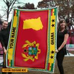 3D All-over Printed Fleece Blanket 'Ghana' Odesea-X1