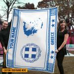 3D All-over Printed Fleece Blanket 'Greece' Odesea-X1