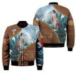 3D All-over Printed - There Is Power In The Name Of Jesus (Blue & Brown)