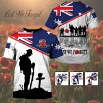 3D All-over Printed Apparels - Anzac Day - Lest We Forget